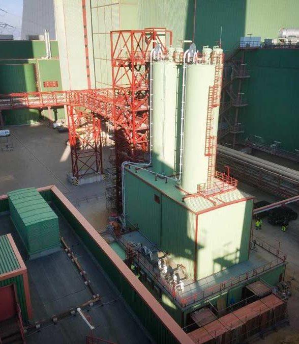 AKD-Anlage mit 2 Silos, Maschinenhaus und Stahlbau